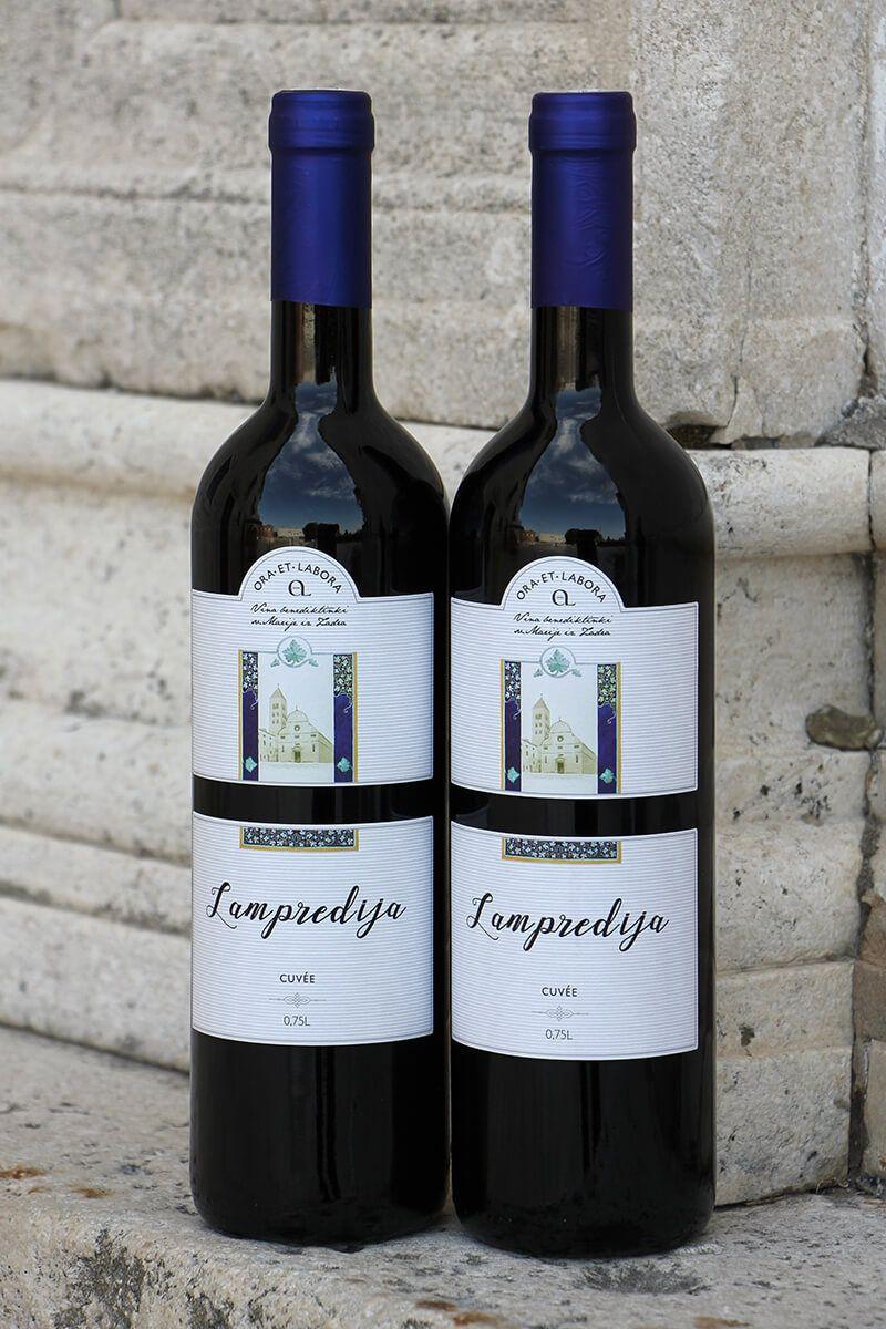 Kvalitetno cuvee crno vino Lampredija